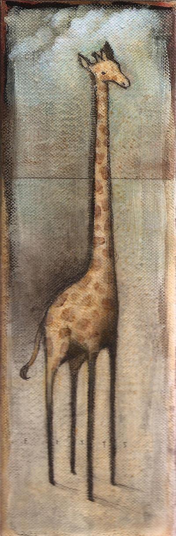 Giraffe in an Open Field by SethFitts