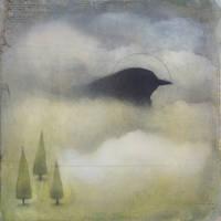 Clouded Black Bird (Three Trees) by SethFitts