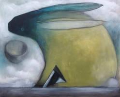 Dark Blue Faced Rabbit.....