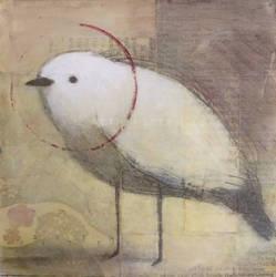 Awakened  White Bird Standing
