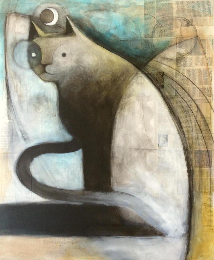 Night Watcher (Knowing Cat) by SethFitts