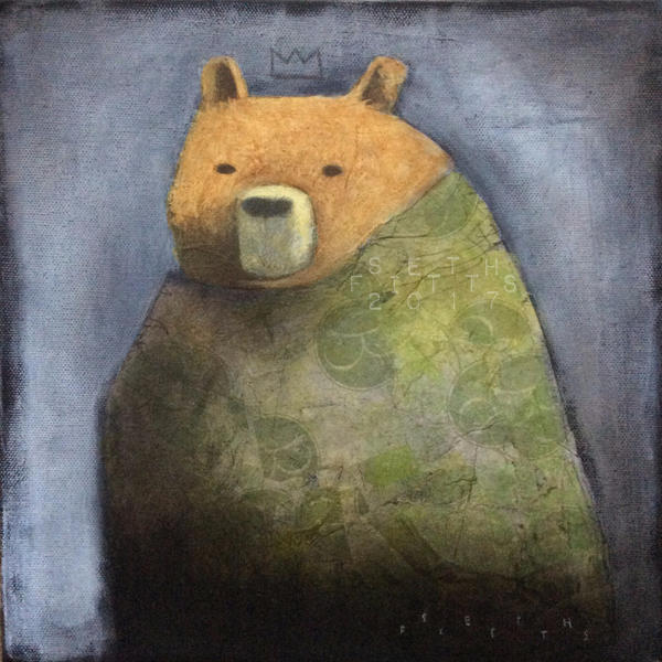 Robed Bear with Ghost Crown by SethFitts