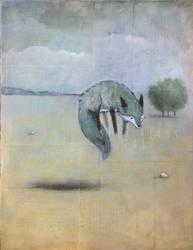 Hovering Gray Fox