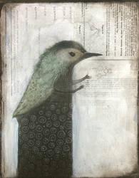 Gesturing Bird Figure