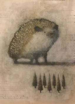 Hedgehog with Small Grove