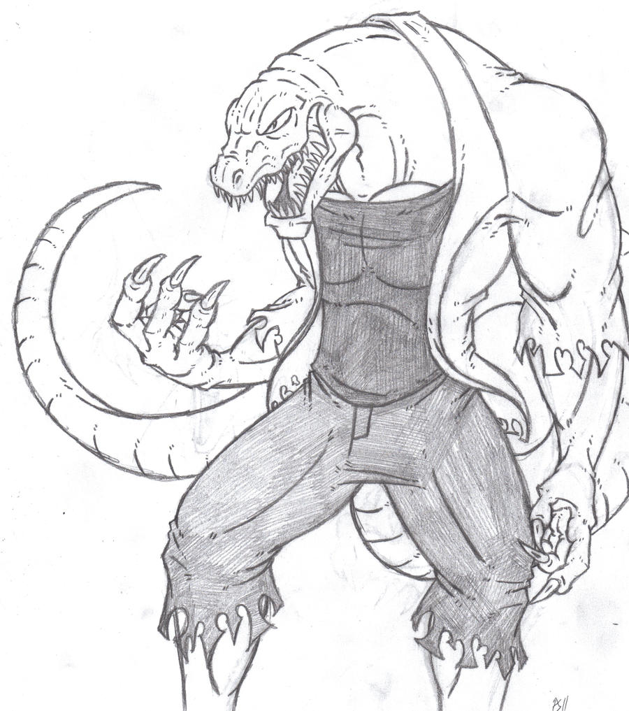 the lizard u0027doc connors u0027 by phycosmiley on deviantart