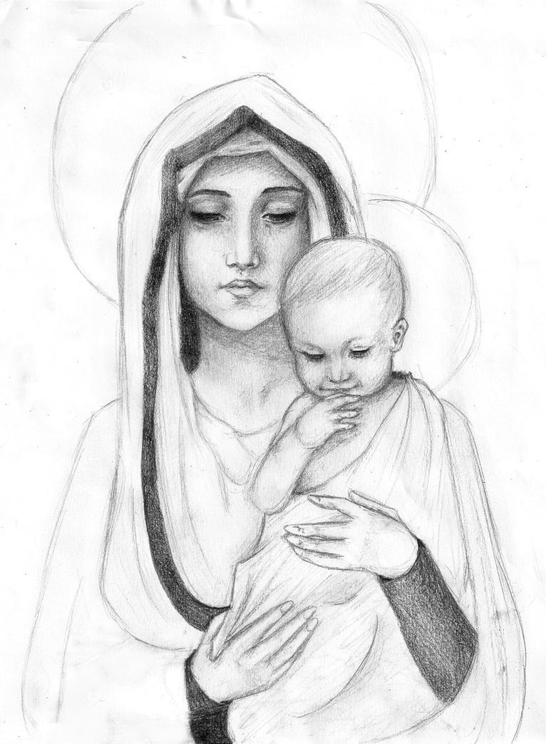 Madonna and Child Sket...