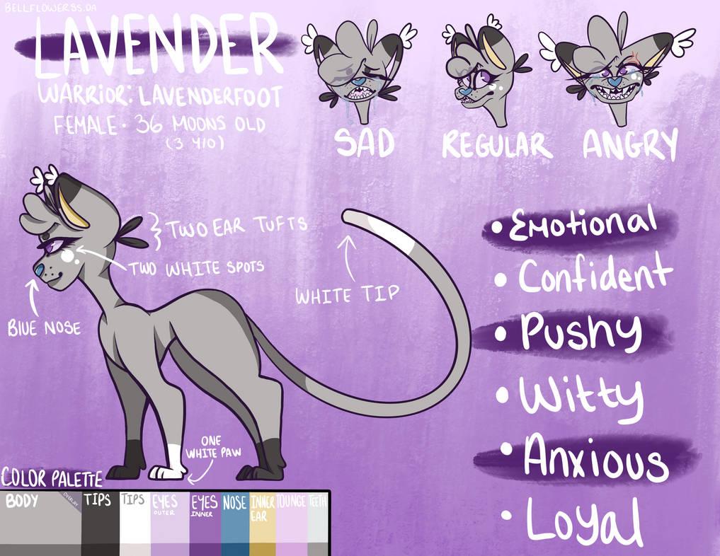 ~ Lavender (Lavenderfoot) OC Ref Sheet ~