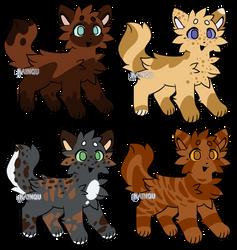 ~ OPEN Kitty Adopts (4/4 OPEN) ~ by BellFlowerss