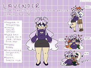 Human Lavender Reference Sheet (Sept 2019)