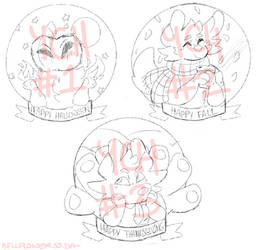 OPEN Fall Badges YCH (Unlimited Slots)