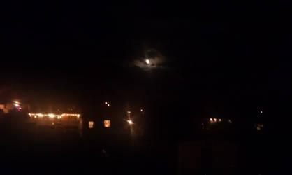 Little light. Large moon.