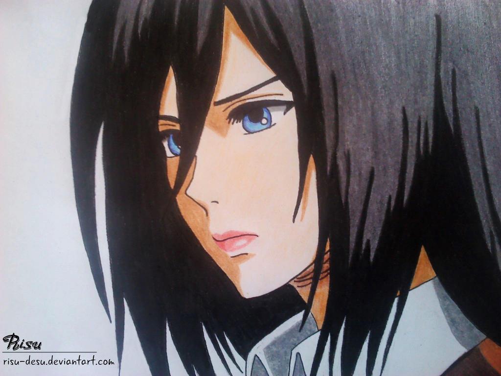 Mikasa Ackerman by Risu-desu