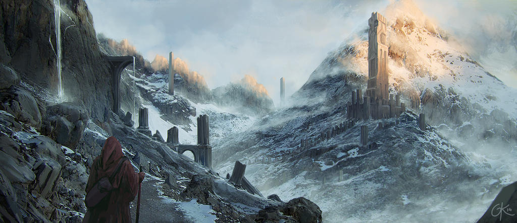 The abandoned Dwarven Towers of Muirendhor by Gillesketting