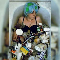 Earth chan in the bathtub