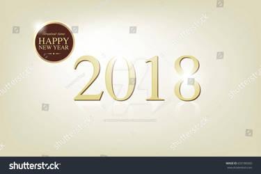 Stock-vector-happy-new-year-dark-brown-golden-badg