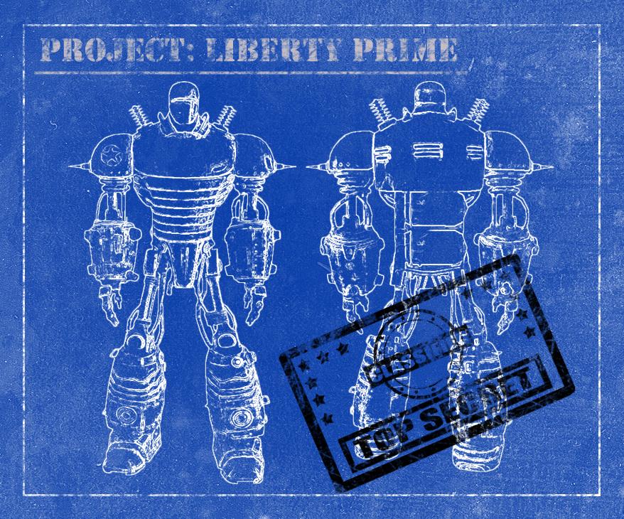 Liberty prime chalk blueprint by horishima on deviantart malvernweather Gallery