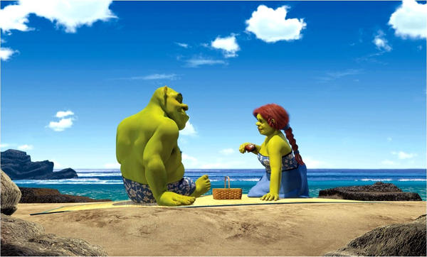 Shrek and Fiona by BigCityAngel