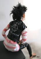 punk girl back by XredandblueX