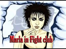 Marla in Fight club by XredandblueX