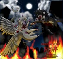 .: Kuro :.  Sebastian vs Ash by KarolyneRocha
