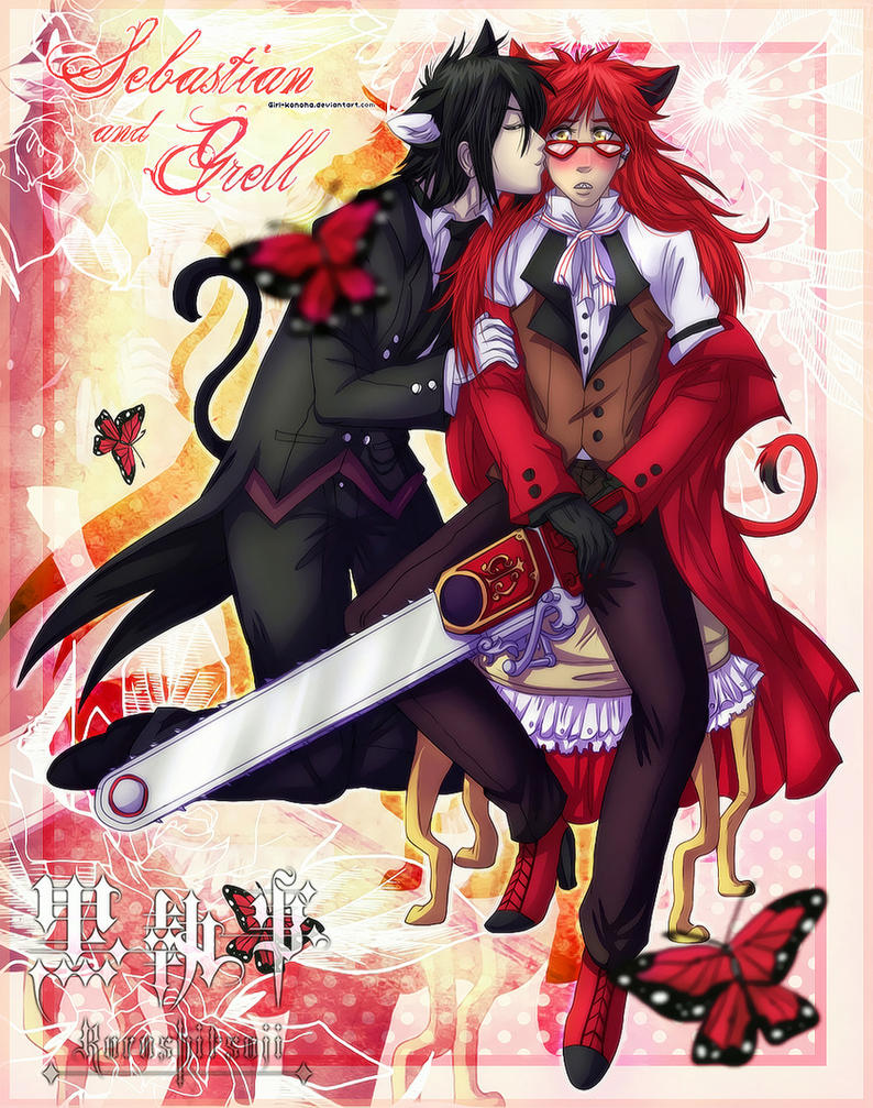 sebastian and grell by karolynerocha on deviantart
