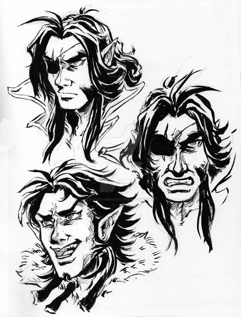 Reithan and Akiva ink by KarolyneRocha