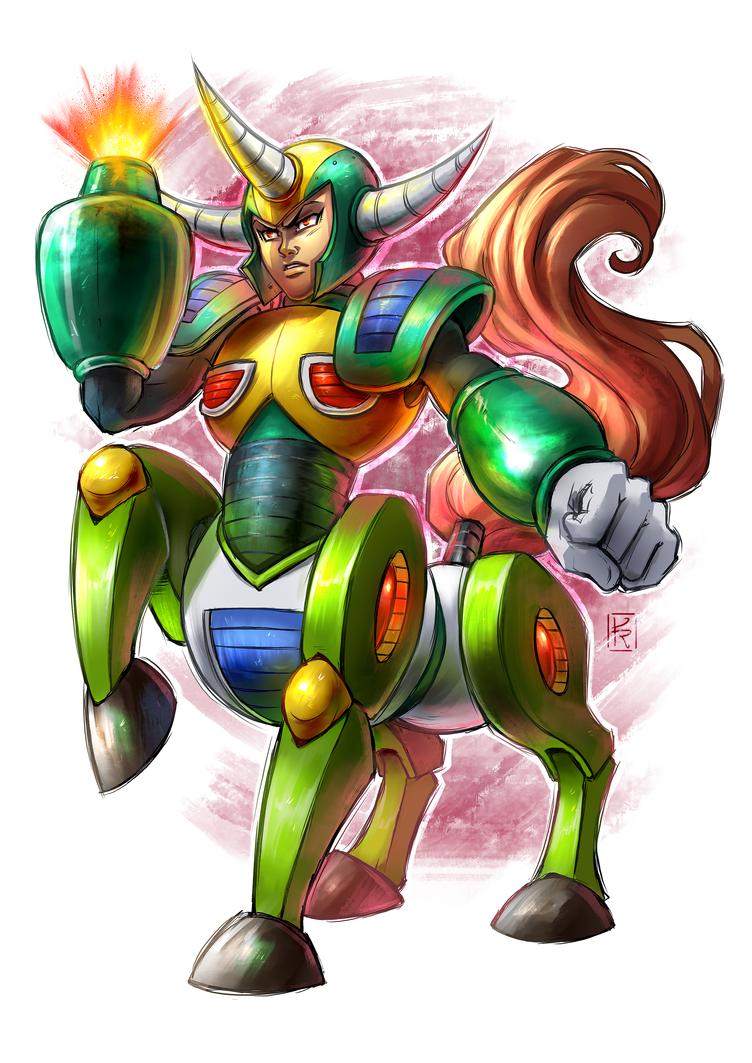 Centaur man - Mega Man 30 anos by KarolyneRocha