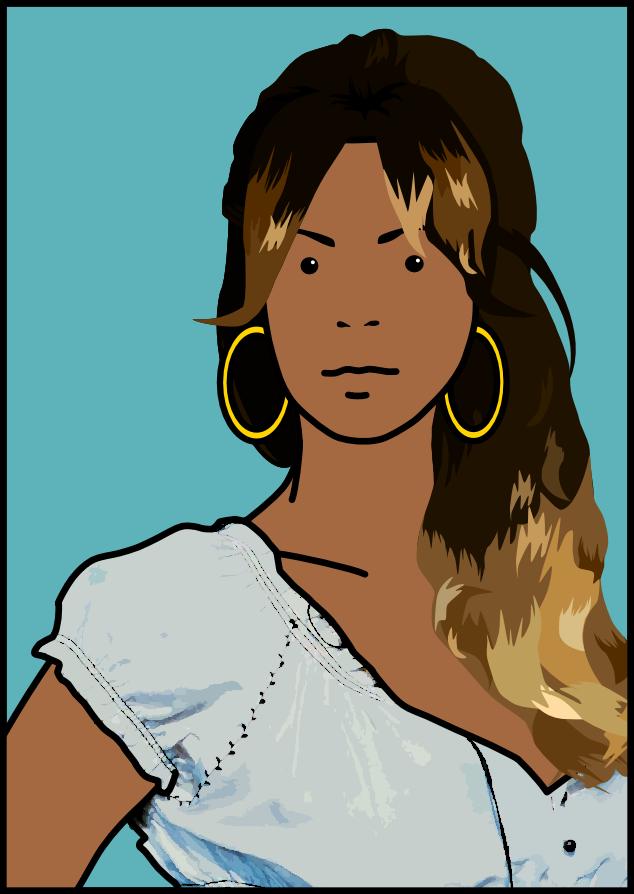 Beyonce (Julian Opie) by diegio1996