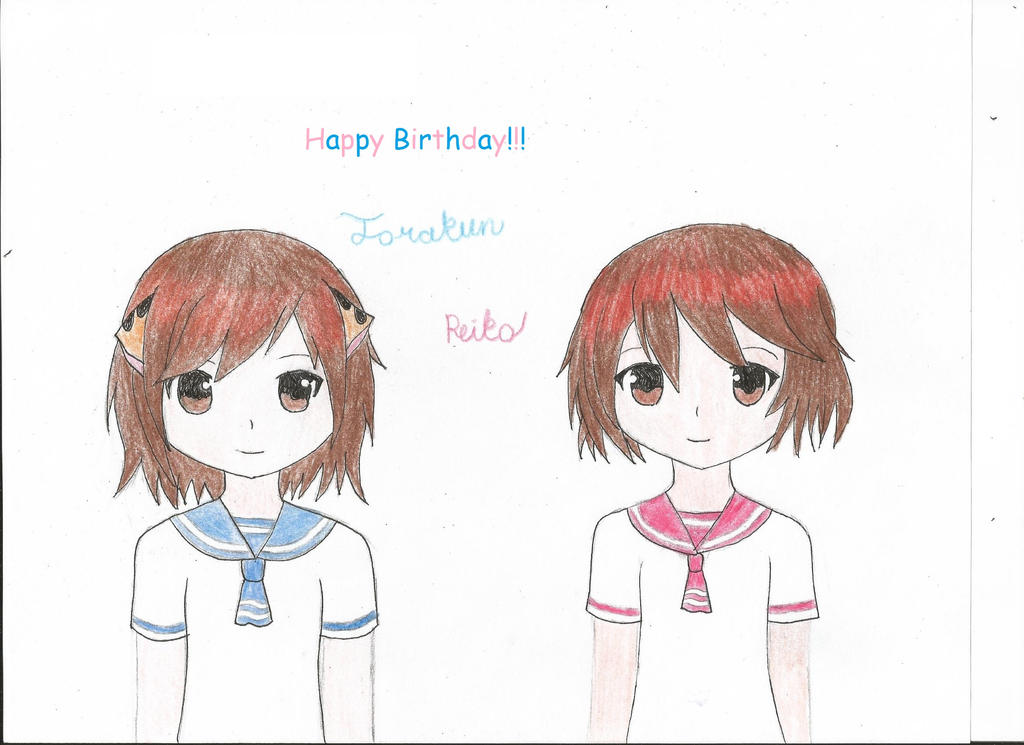Happy Birthday to Torakun and Reiko by Annagong963