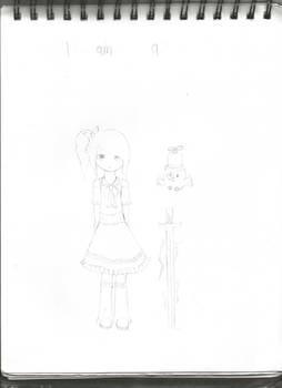 Hana the magical girl Sketch