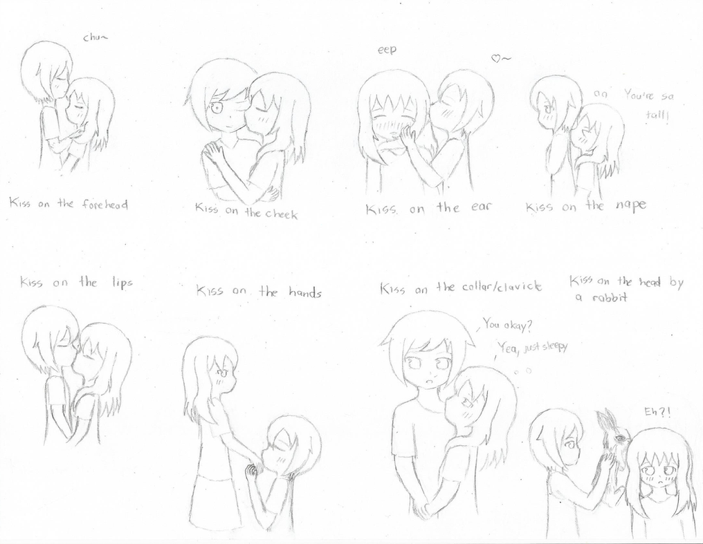 Kissing meme featuring my Ocs by Annamay26