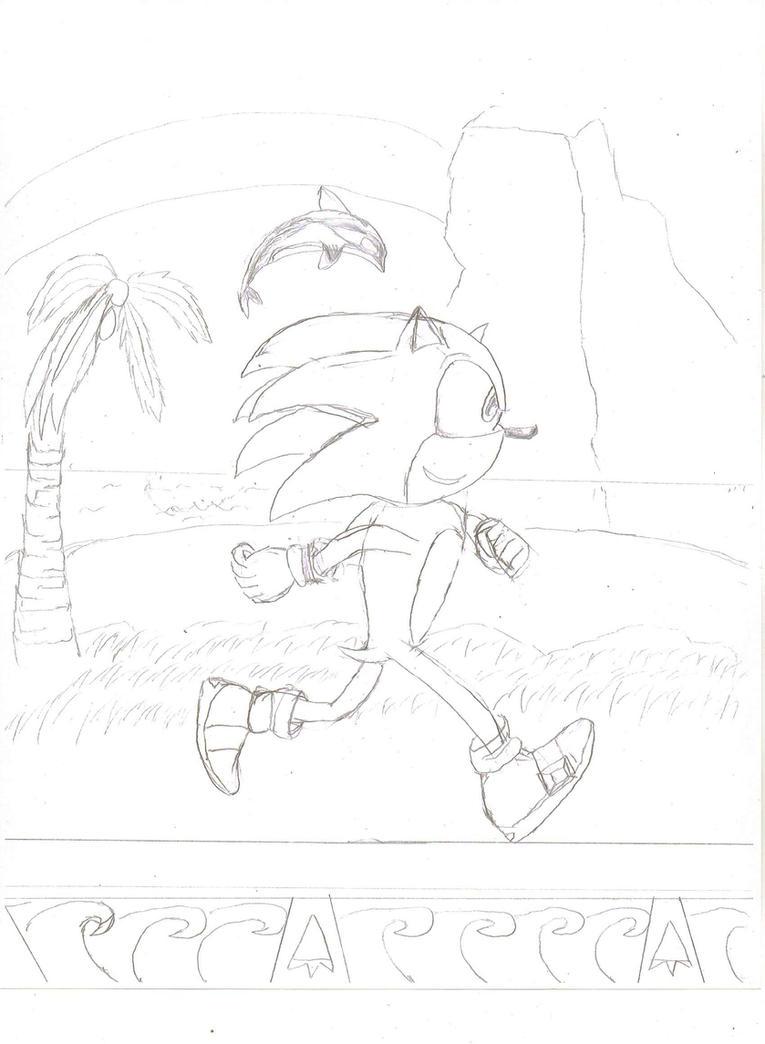 Sea Side Sonic by Luigidile7