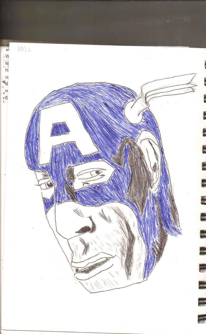 Sketch Dump - Ultron Cap by Luigidile7