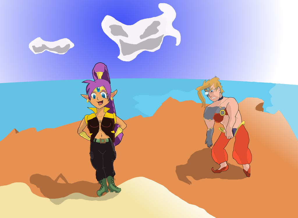 Charlie And Shantae Swap Clothes by Luigidile7