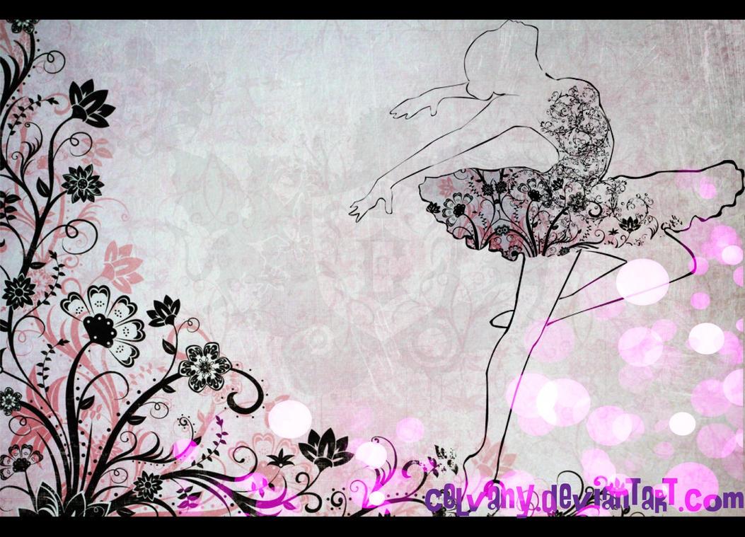 Wallpaper Ballerina By Celvany