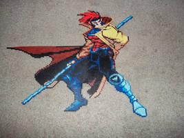 Marvel VS Capcom Gambit Perler by celticruins