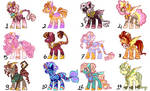 MLP MIXED ADOPTABLES by NemesisTheFirst