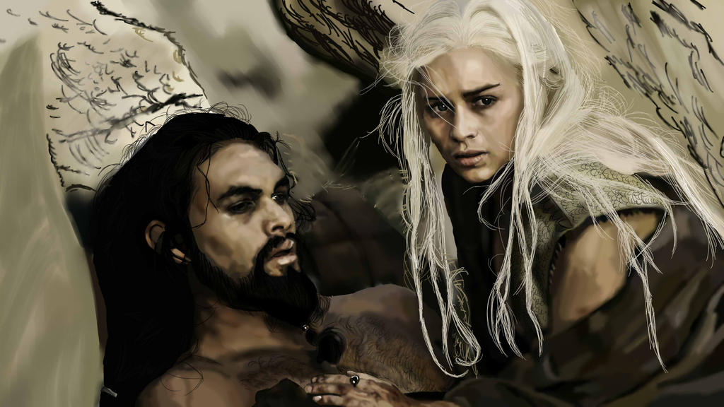 Картинки по запросу Daenerys Targaryen and Khal Drogo