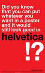 Helvetica is art. by rodoabad