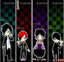 SP: Suicidal Goth Bookmarks by RedMoonDragon