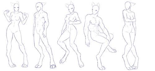 Anthro Legs Pose Pack 1 - F2U - UPDATED by ShadowInkWarrior