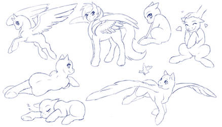 Pony Poses Sketch Sheet - F2U