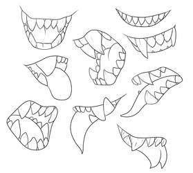 F2U Lineart - More Teeth