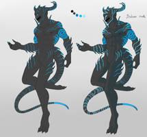 Custom Monster Man 10 - Bioluminescent Blue by ShadowInkWarrior