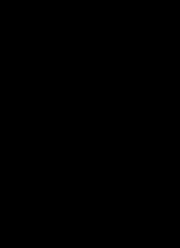 F2U Lineart - Flower Skull - Tiger