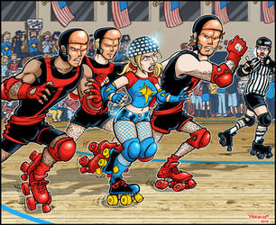 Derby Dazzler vs The Hellfire Club Goons by paigey