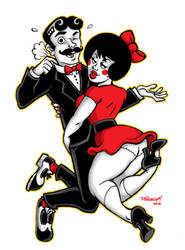 Mister Boh and UTZ Girl by paigey