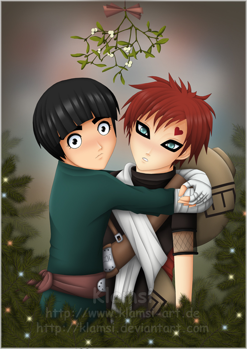 Gaara x Lee - Merry Xmas 2006 by Klamsi on DeviantArt Gaara And Rock Lee Yaoi