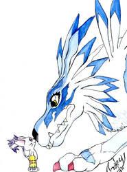 Digimon - Garurumon+Gatomon